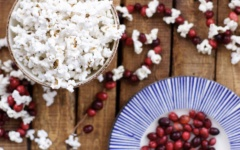 DIY Classic Cranberry Popcorn Garland - TheKillerLook.com - The Killer Look